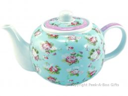Forever England Martha Rose Fine China Traditional Teapot by Leonardo