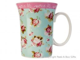 Forever England Martha Rose Fine China Trumpet Shaped Mug by Leonardo