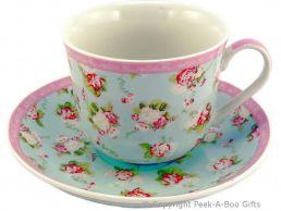Forever England Martha Rose Fine China Jumbo Cup & Saucer by Leonardo