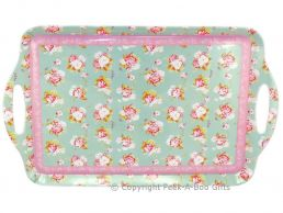 Forever England Martha Rose Large Melamine Tray with Handles by Leonardo
