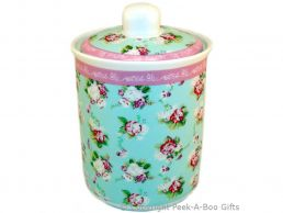 Forever England Martha Rose Fine China Storage Canister Jar 15cm by Leonardo