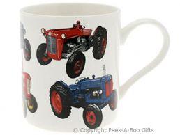 Classic Tractor Fine Bone China Straight Sided Boxed Mug by Leonardo