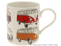 Classic VW Camper Van Bone China Straight Sided Boxed Mug by Leonardo