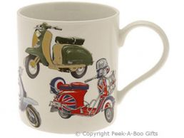 Classic Scooter Fine Bone China Straight Sided Boxed Mug by Leonardo