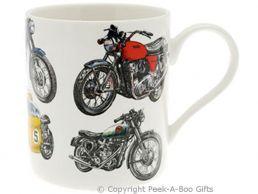 Classic British Motorbike China Straight Sided Boxed Mug by Leonardo