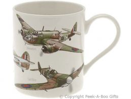 Classic British WWII Planes China Straight Sided Boxed Mug by Leonardo