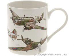 Classic British WWII Planes China Straight Sided Boxed Mug by Leonardo