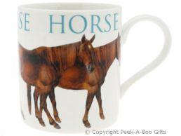 Classic Farmyard Horse China Straight Sided Boxed Mug by Leonardo