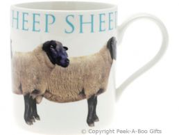 Classic Farmyard Sheep China Straight Sided Boxed Mug by Leonardo