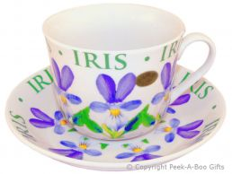 Leonardo Flower Garden Collection Iris China Jumbo Cup & Saucer