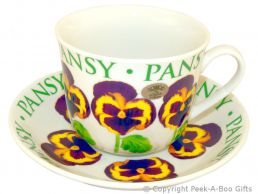Leonardo Flower Garden Collection Pansy China Jumbo Cup & Saucer