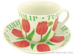 Leonardo Flower Garden Collection Tulip China Jumbo Cup & Saucer