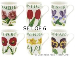 Leonardo Flower Garden Collection China Slim Mugs Set of 6
