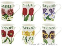 Leonardo Flower Garden Collection China Slim Mugs 6 Assorted Designs