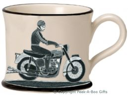 Moorland Pottery Born to Ride Motorbike Mug