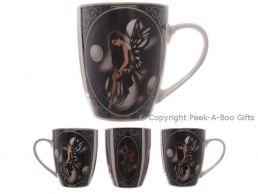 Dark Fairy with Bubbles Fine Bone China Boxed Mug by Lisa Parker