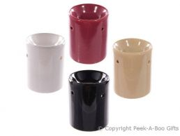 Ceramic Straight Sided Fragrance Oil Burner 4 Assorted Plain Colours