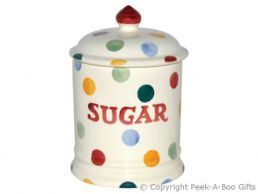 Emma Bridgewater Polka Dot 1 Pint Sugar Storage Jar with Seal