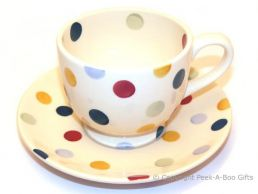 Emma Bridgewater Polka Dot Tea Cup & Saucer  - 8.5cm