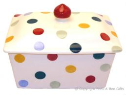 Emma Bridgewater Polka Dot Oblong Butterdish with Lid