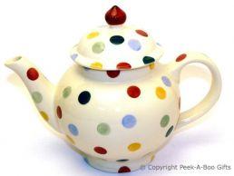 Emma Bridgewater Polka Dot 4 Cup Large Teapot - Boxed