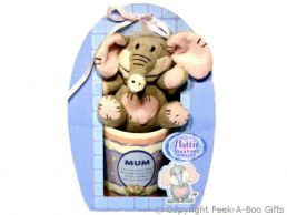 Mum Hattie Elephant Mug & Soft Toy Gift Set