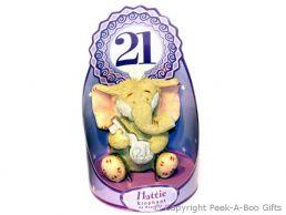 Hattie Elephant 21st Birthday Figurine