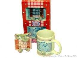 Valentines I Love You Mug & Plaque Set Hattie Elephant