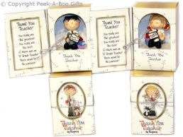 Thank You Teacher Book & Boy or Girl Figurine