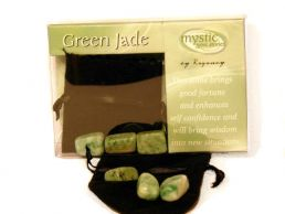 Green Jade Mystic Gemstones for Good Fortune, Self Confidence & Wisdom