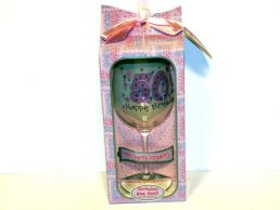 50th Birthday Big Wine Gift Glass for Her