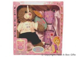 Mum Candle Pots & Soft Toy Bear Gift Set