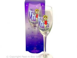 No.1 Mum Gift Champagne Glass