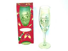 40th Birthday Champagne Gift Glass