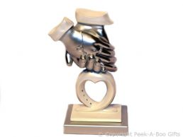 Bridal Collection Sculpture Two Hearts Hands Figurine by Regency