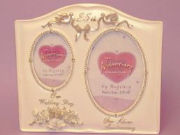 Double 25th-Silver Wedding Anniversary Photo Frame