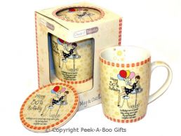 30th Birthday Mug & Coaster Gift Set Conical for Her