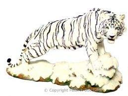 Medium Standing Snow-Siberian Tiger Figurine by Regency