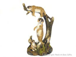 Kalahari Meerkat Figurine Tree Clan 30cm Sculpture
