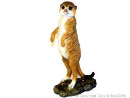 Kalahari Meerkat Figurine Standing Guard 30cm Sculpture