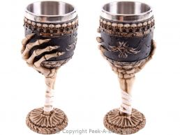 Gothic Goblet Skeleton Arm with Bones & Skulls