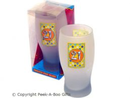 Frosted 21st Birthday Pint Gift Beer Glass