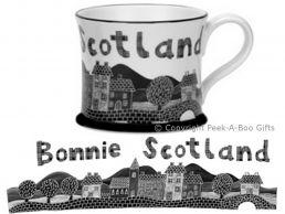 Moorland Pottery Scots Ware Bonnie Scotland Mug