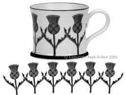 Moorland Pottery Scots Ware Scottish Thistle Mug