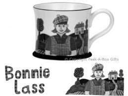 Moorland Pottery Scots Ware Bonnie Lass Mug