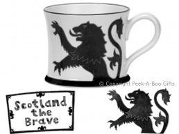 Moorland Pottery Scots Ware Scotland the Brave Mug