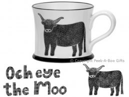 Moorland Pottery Scots Ware Och Eye the Moo Mug
