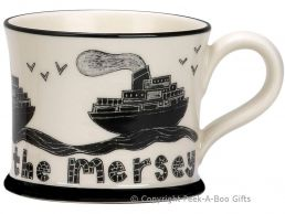 Moorland Pottery Scouser Ware Ferry Across the Mersey Mug