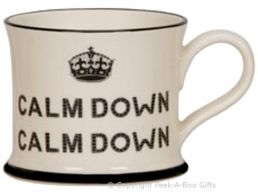 Moorland Pottery Scouser Ware Calm Down Calm Down Mug