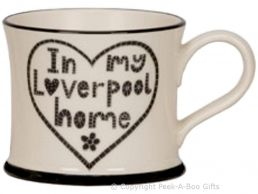 Moorland Pottery Scouser Ware In My Liverpool Home Heart Mug